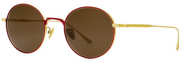 Okulary BRENDA BLUEBERRY RED GOLD BROWN - 2